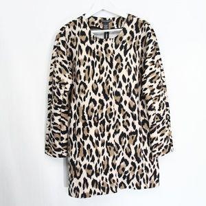 Chelsea & Theodore Leopard Print Coat